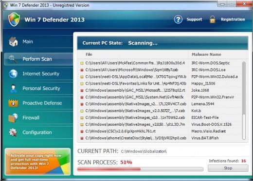 Anti-virus falso Win 7 defender 2013