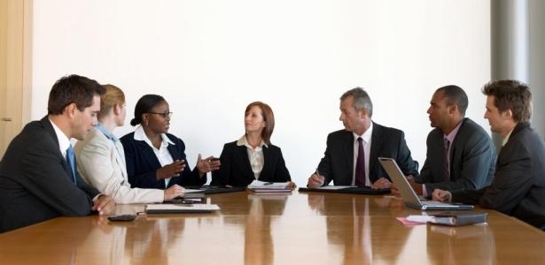 executivos líderes reunião