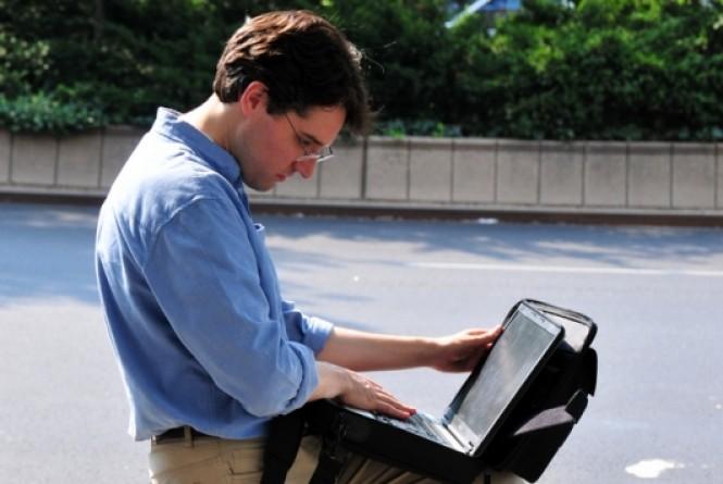 Privacidade Notebook Homem Profissional TI