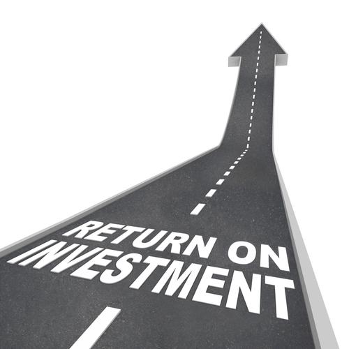 ROI gráfico investimento gestão